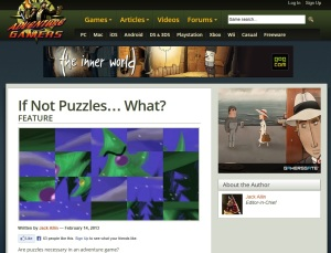 Adventure gamers on puzzles