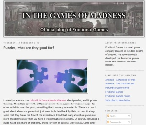 frictional Games puzzles
