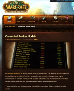 wow connected realms