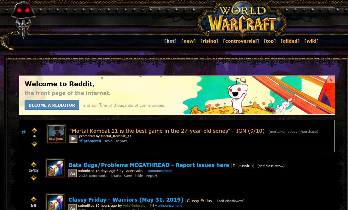 World of Warcraft Classic : Places to Read and Hear More About It
